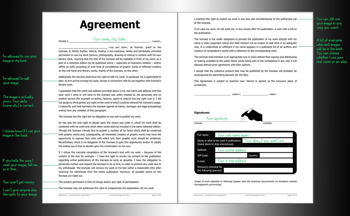 Usage agreement explained