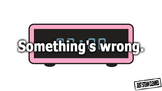 Something's wrong.